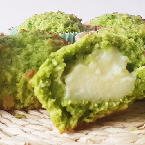 Muffins de espinacas para personas veganas