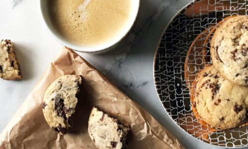 Galletas sin gluten con chispas de chocolate