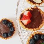 Tartaletas de chocolate preparadas con crema de Budito®